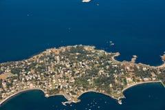 вид с воздуха острова Nahant около Бостона, Массачусетса стоковая фотография