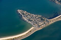 вид с воздуха острова Nahant около Бостона, Массачусетса стоковое изображение rf