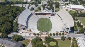 Вид с воздуха откровенного поля Говарда на стадионе мемориала Clemson Стоковые Изображения