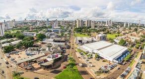 Вид с воздуха от бульвара Ceara в MS Campo большом Стоковое Изображение