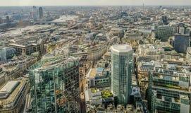 Вид с воздуха от вершины здания боязни высоты 42 в городе l стоковая фотография rf
