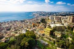 Вид с воздуха от вершины холма над Неаполь, Италией стоковое фото rf
