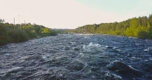 Вид с воздуха от трутня грубого реки Стоковые Изображения