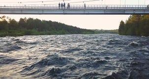 Вид с воздуха от трутня грубого реки Стоковое фото RF