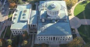 Вид с воздуха палаты Огайо в Колумбусе 4K
