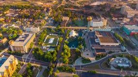 Вид с воздуха парка всемирной ярмарки в Ноксвилле Теннесси в Стоковые Фотографии RF