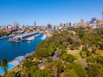 Вид с воздуха парка и горизонта Сиднея Стоковые Изображения RF