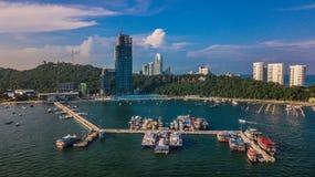 Вид с воздуха Паттайя, Таиланда Стоковые Фото