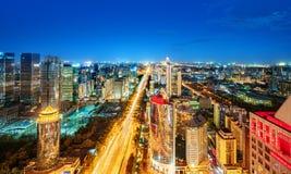 Вид с воздуха Пекина стоковые изображения rf