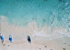 Вид с воздуха пляжа Pescadores в Tulum Мексике Стоковые Изображения RF