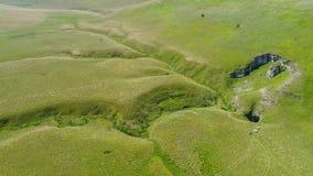 Вид с воздуха подземно-минного реки, Ponor, гора planina Stara, Сербия стоковое изображение rf