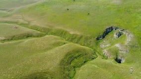 Вид с воздуха подземно-минного реки, Ponor, гора planina Stara, Сербия стоковые изображения rf