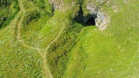 Вид с воздуха подземно-минного реки, Ponor, гора planina Stara, Сербия Стоковая Фотография RF