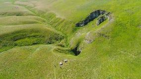 Вид с воздуха подземно-минного реки, Ponor, гора planina Stara, Сербия стоковые фото