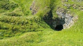 Вид с воздуха подземно-минного реки, Ponor, гора planina Stara, Сербия стоковое изображение