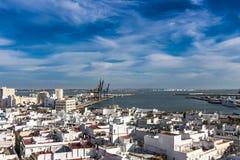 Вид с воздуха порта Кадис стоковое фото
