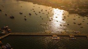 Вид с воздуха порта путешествия в Паттайя, Таиланде Стоковые Изображения