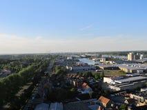 Вид с воздуха пригорода в Бельгии Стоковые Фото