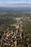 Вид с воздуха пригородов DC Вашингтона стоковые фотографии rf