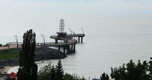 Вид с воздуха пристани Burlington, Канады 4K сток-видео