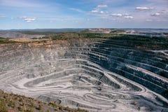 Вид с воздуха промышленный открытой разработки стоковое фото