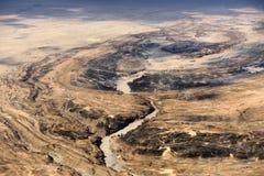 Вид с воздуха пустыни Namib, Намибия, Африка Стоковые Фото