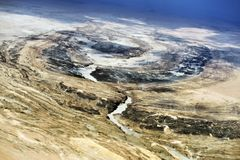 Вид с воздуха пустыни Namib, Намибия, Африка Стоковые Изображения RF