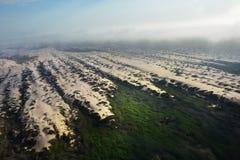 Вид с воздуха пустыни Namib, Намибия Стоковые Фотографии RF