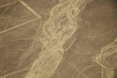 Вид с воздуха пустыни Nazca, Перу Стоковые Изображения