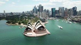 Вид с воздуха пятен Сиднея touristic Туризм Австралии видеоматериал