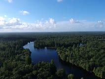 Вид с воздуха реки Hillsborough в Тампа Стоковые Фото