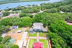 Вид с воздуха реки Matanzas в Августине Блаженном, Флориде США Стоковое Изображение