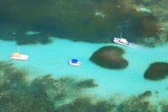 Вид с воздуха рифа сердца Стоковые Изображения RF