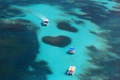 Вид с воздуха рифа сердца Стоковое Изображение RF