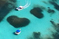 Вид с воздуха рифа сердца Стоковые Изображения