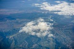 Вид с воздуха румынской сельской местности стоковые изображения rf