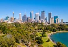 Вид с воздуха сада Сиднея ботанического Стоковые Фотографии RF