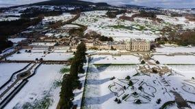 вид с воздуха садовничает powerscourt Wicklow Ирландия стоковая фотография rf