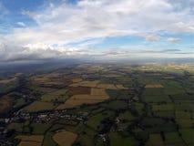 Вид с воздуха сельской местности Сомерсета Стоковые Фотографии RF