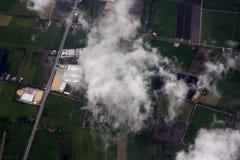 Вид с воздуха сельскохозяйствення угодье Стоковое Изображение RF