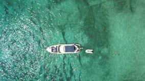 Вид с воздуха сногсшибательного пляжа в Менорке Стоковое Фото