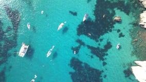 Вид с воздуха сногсшибательного пляжа в Менорке Стоковые Изображения RF