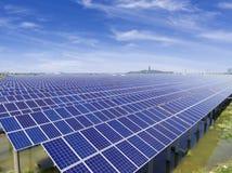 Вид с воздуха станции солнечной энергии стоковые изображения