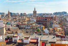 Вид с воздуха старого городка в Валенсия, Испании стоковые фотографии rf