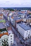 Вид с воздуха старого городка в Торуне, Польши стоковое фото rf