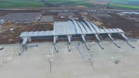 Вид с воздуха стержней и башни Вид с воздуха авиапарка около центра города Кракова Крупный аэропорт, ремесла воздуха Стоковые Фотографии RF