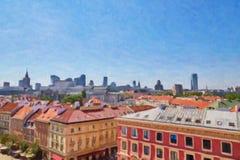 Вид с воздуха столицы Польши Стоковые Фотографии RF