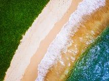 Вид с воздуха тропического пляжа Стоковые Фото
