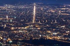Вид с воздуха Турина Corso Francia стоковые фотографии rf