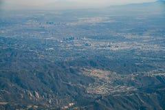 Вид с воздуха центра города и Westwood Лос-Анджелеса городских стоковое изображение rf
